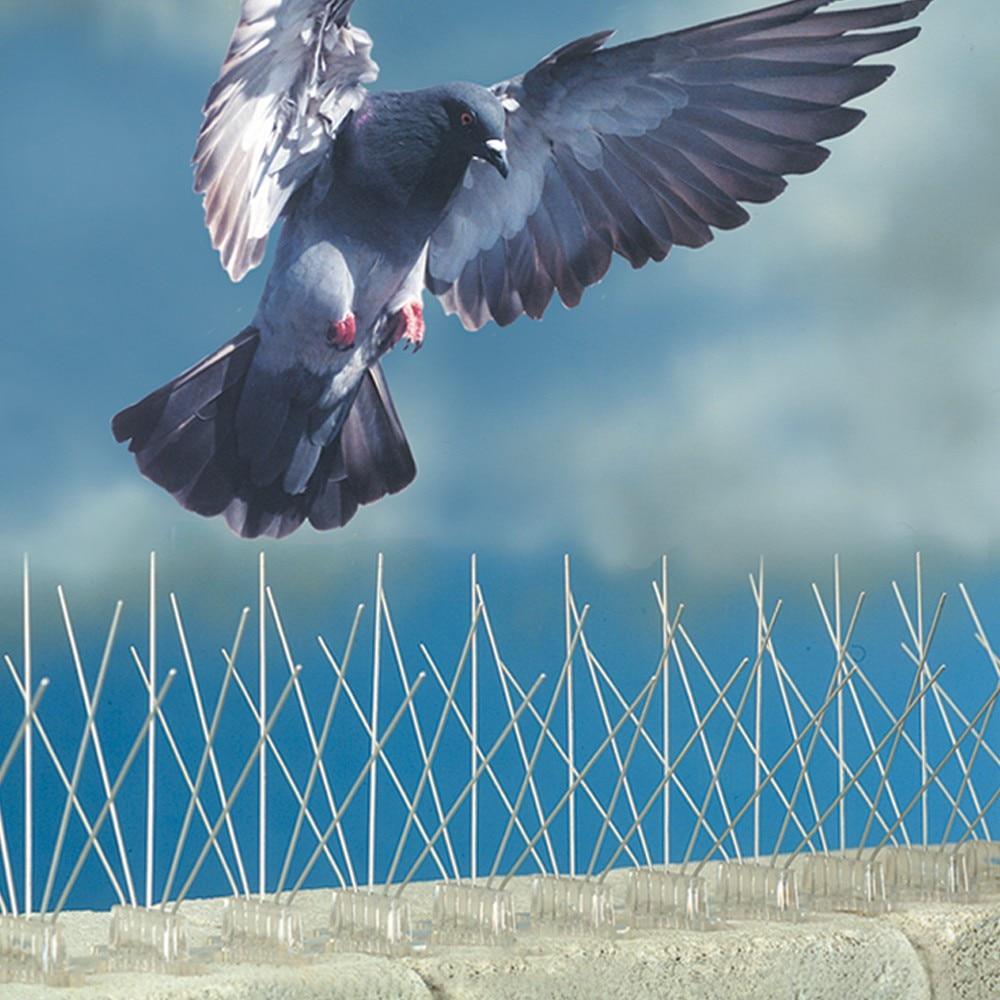 Premium Modell Edelstahl Vogel Spikes, Anti Taubenspikes vogelabwehr kit Erschrecken Seagull Tauben Spikes