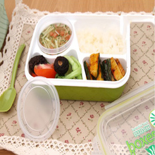 Keythemelife 3 in 1 Lunch boxs Tableware Food Container Bento with Soup Bowl Children Dinnerware C