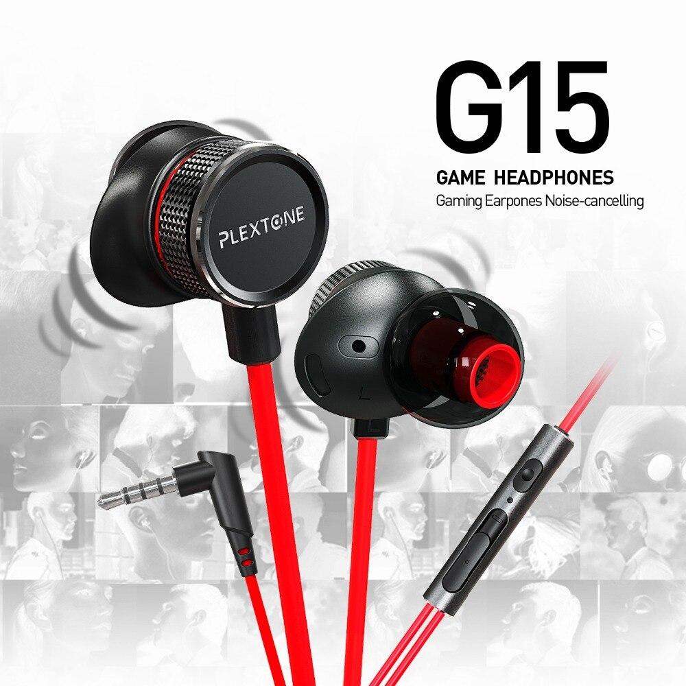 PLEXTONE G15 Earphone 3.5mm Magnetic Stereo Gaming Earohone-Red