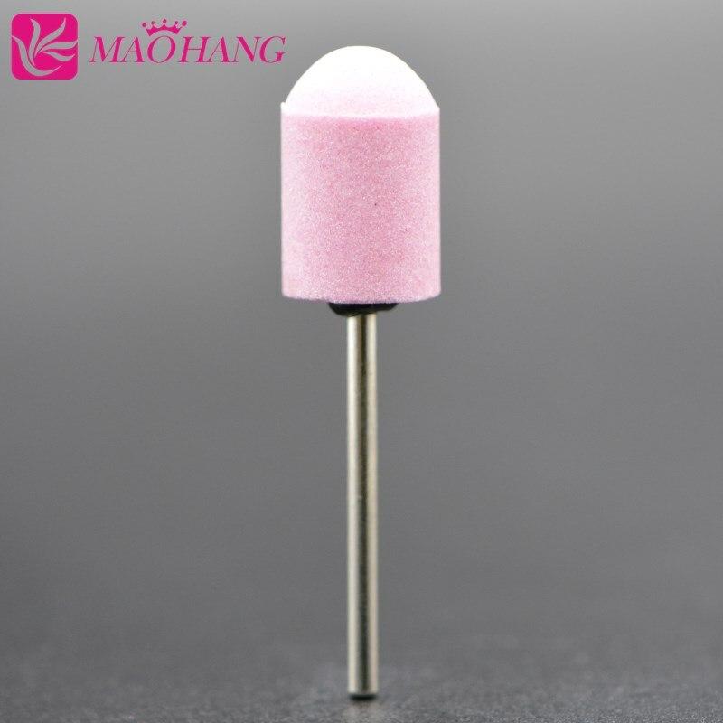 MAOHANG 1PCS Ceramic Stone Remove Calluses Nail Art Sanding Caps for Manicure Pedicure Electric Nail Drill Machine Nail Tools