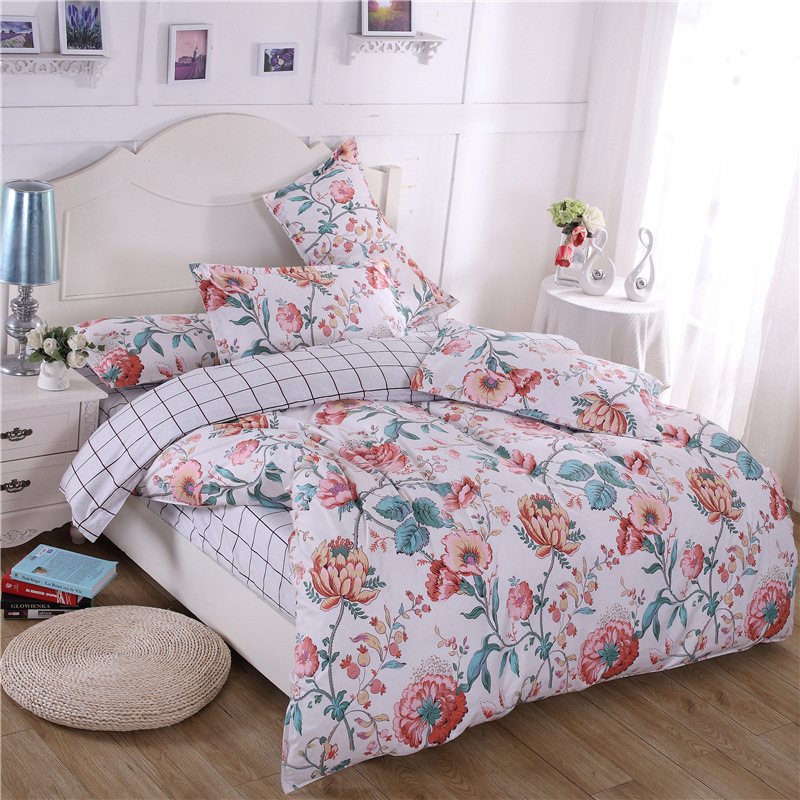 Free Shipping Modern Style Polyester Duvet Cover Set Bed