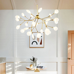 Styl skandynawski żyrandol przemysłowe lampy wiszące główna sypialnia lustre dla Art Shop styl tiffany abażury luminaria
