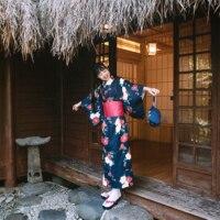 Vintage Improved Women Japanese Kimono Cosplay Costumes Traditional Classic Printed Formal Geisha Bathrobe Yukata Uniform M L