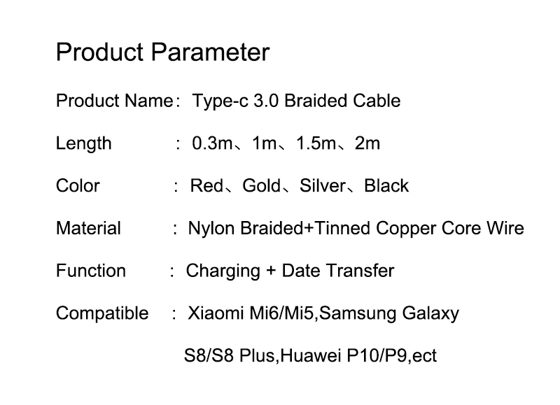 USB Type-C 3.0 Red Braided Cable 11