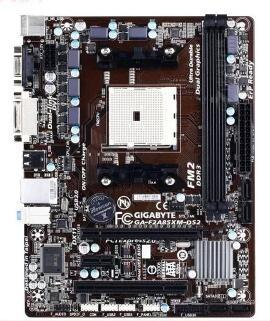 Original motherboard GA-F2A85XM-DS2 F2A85XM-DS2 DDR3 Socket FM2 Gigabit Ethernet free shipping
