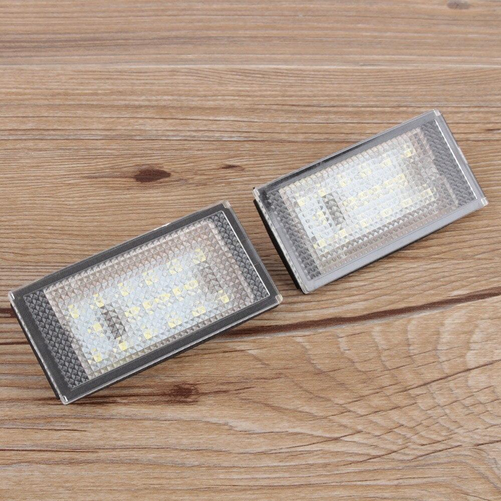 18 LEDs License Number Plate Light For Vauxhall Opel Corsa C D Astra H J 7000 K Super White DC 12V