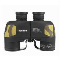 Military Waterproof HD10X50 Binoculars Telescope Professional Waterproof BAK4 Prismaticos Rangefinder Distance Hunting Vision