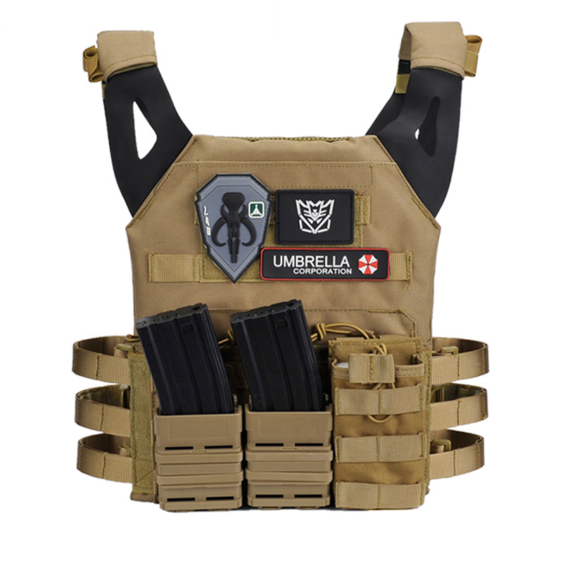 Light Weight Tactical Vest Amphibious Battle Military Molle Waistcoat Combat Assault Plate Carrier Vest Hunting Protection