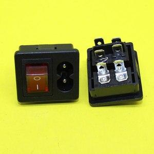 Image 2 - Cltgxdd ad 087 iec320 c8 전원 코드 입구 소켓 콘센트 on off 적색 로커 스위치 250 v 2.5a 컴퓨터 증폭기 용