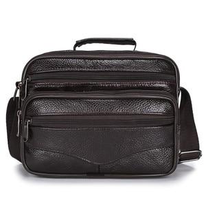 Image 2 - HUANILAI Men Bags Messenger Bags  Fashion Business Shoulder Bags For Men Genuine Leather Bags High Capacity Handbags TY006