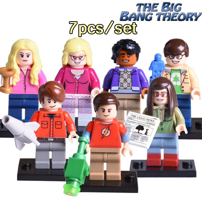 7pcs/set The Big Bang Theory Building Blocks TBBT Sheldon Leonard Penny Howard Bernadette Amy Rajesh Diy figures Kids Toy amy joyner the ebay millionaire titanium powerseller secrets for building a big online business