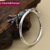 Новый 100% S925 серебро браслет Для женщин украшения ручной работы Таиланд Чиангмай Ограниченная серия браслет Ювелирные украшения fb1