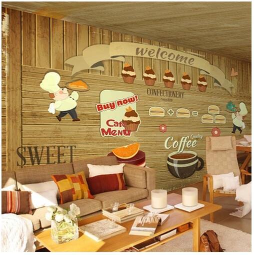 Popular Ice Cream Wallpaper Buy Cheap Ice Cream Wallpaper: \Hamburger Tea Ice Cream 3D Wallpaper Background Bread