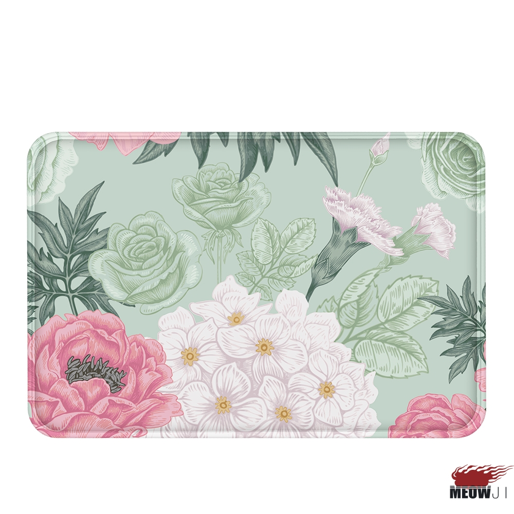[MIAOJI] The Royal Luxury Noble Flower pattern Soft Feet Dust Rub Carpet Doormat Bath Mat Absorbent Non-Slip