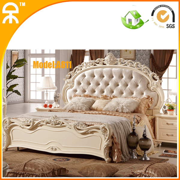import white royal wood carving bed bedroom set prices from china