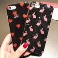 7 gaqou do brilho de bling casos para iphone 6 6 s plus, doce diamante coelho capa de silicone para a apple iphone6s 7 plus