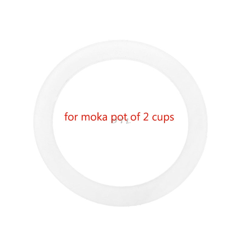 Silicone Seal Ring Flexible Washer Gasket Ring Replacenent For 2 Cups Moka Pot Espresso Kitchen Coffee Makers Accessories Parts