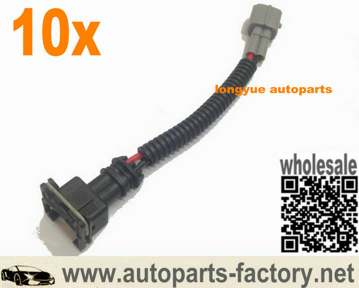 online buy whole toyota wiring harness from toyota longyue 10pcs ev1 obd1 fuel injector wiring harness case for toyota style plug and play
