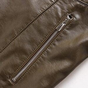 Image 5 - אמיתי עור מעיל גברים מעילי אמיתי כבש מותג שחור זכר אופנוע עור מעיל חורף מעיל בתוספת גודל 10XL 8XL 6XL