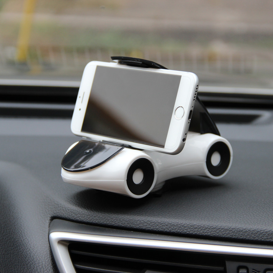1 Piece Rotatable Car Phone Holder Navigation Stander Cute Shape Interior Ornaments Creative Gift