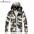 Hot Selling 2016 New Arrival Men Fashion Camouflage Jacket Summer Tide Male Hooded Thin Sunscreen Coat Wholesale NSWT119