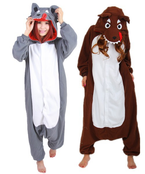 9d75b3761c01 NEW Polar Fleece Fashion Wolf Animal Pajamas Pyjamas Party Costume Onesies  Animal casual for Adult Anime Sleepwear-in Anime Costumes from Novelty    Special ...