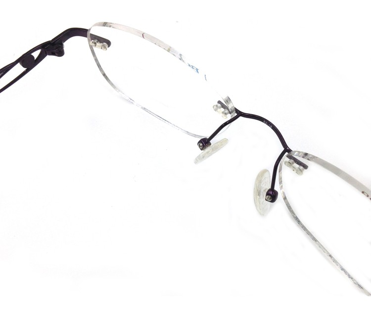 Titanium Memory Flexible Rimless Glasses Frame Women (2)