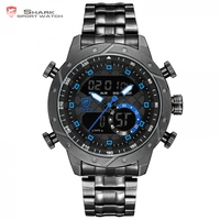 New Snaggletooth SHARK Relogio Masculino De Luxo Chronograph Hiking Man Watch Digital LCD Alarm Vintage Clock