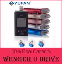 Oferta especial unidad flash usb otg teléfono para iphone 6/5 ipad rayo Pen drive 8g 16 gb 32 gb 64 gb iFlash Conductor + Micro usb