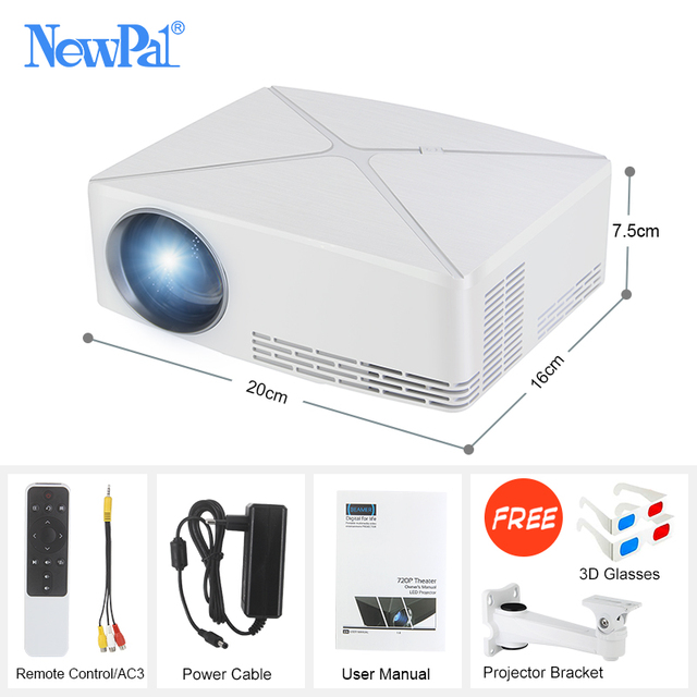 Newpal C80 UP Mini Projector 2200Lumens Projector 1280x720P Home Cinema (Android WIFI Option) 720P HD Beamer LED Proyector c80 5
