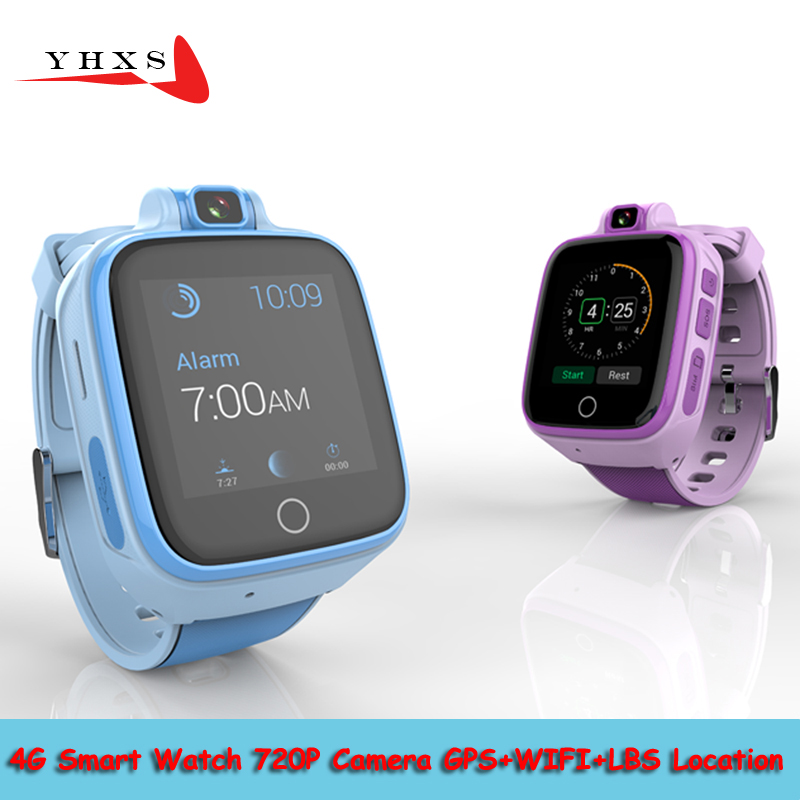 Smart Watch Child Safe Monitor GPS Tracker Kids Android IOS Waterproof Baby SOS Remote Monitor Camera SIM 4G Network Wristwatch ds18 waterproof smart baby watch gps tracker for kids 2016 wifi sos anti lost location finder smartwatch for ios android pk q50