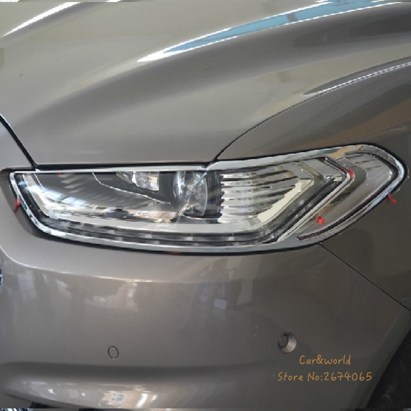 For Ford Mondeo Fusion 2013 2014 2015 Headlights cover Head Light lamp Trim Chrome Decoration Car-Styling Car-covers Accessories стоимость