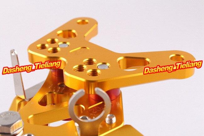 CNC Rearset задний Набор подножки для Kawasaki Ninja ZX6R 2007 2008 алюминиевый сплав золото, регулируемый