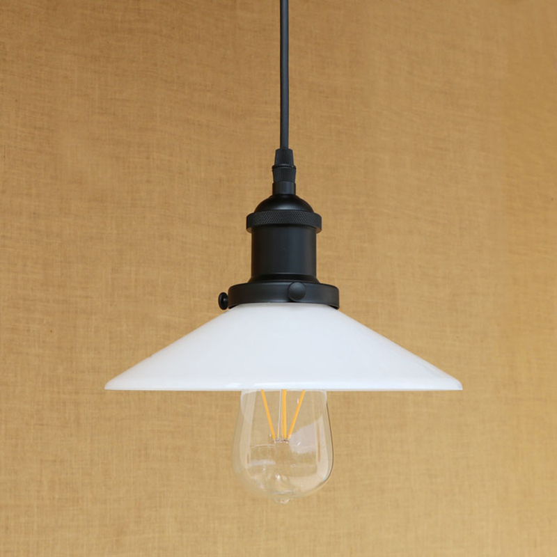 Modern white glass pendant lamp classic hanging LED E27 light American Loft style bar/restaurant living room lighting fixture pieces туника