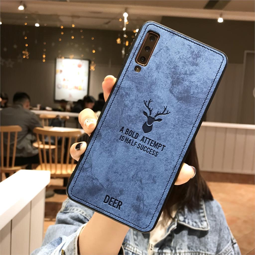 100% Kwaliteit Herten Doek Telefoon Case Op Voor Huawei Honor 10 Lite 9 8 7c Y6 Prime Y7 Y9 2018 P Smart 8x 7x Magic 2 Spelen Lederen Tpu Cover Om Een Ongewoon Uiterlijk Zeker Te Stellen