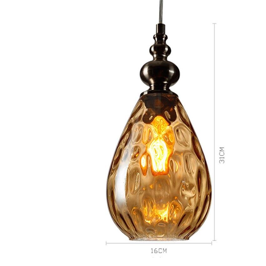 Superior Lustre Vintage Glass Pendant Light Loft Lampen Retro Pendant Lamp Coffee  Droplight Dinning Room HangLamp Suspension Luminaire In Pendant Lights From  Lights ...