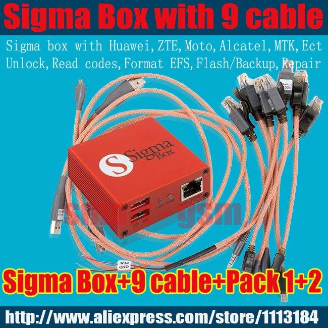 100% boîte d'origine sigma + 9 câbles avec pack1 + Pack2