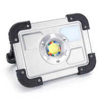 Safurance 30W LED Portable Rechargeable Flood Light Spot Work Outdoor Lawn Lamp Roadway Safety Traffic Light