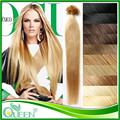 "18""20""22"" Nail U Tip Keratin Hair Extension Mega Unprocessed Peruvian Virgin Straight Hair Free Shipping Hot Selling Nail U Tip"