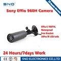 """SNO 2016 Novo 1/3 """"Sony Effio-e 700TVL CCD Mini câmera da Bala Ao Ar Livre Invisível 10 Pcs 940NM IR 0 lux Night Vision CCTV câmera"""