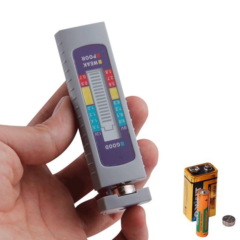 Тестер емкости аккумулятора, цифровой тестер емкости для литиевой батареи AA/AAA/1,5 В 9 В, Тестер питания, измерительный инструмент, инструмент...
