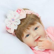 42cm Soft Body Silicone Reborn Baby Doll Toy For Girls Vinyl Newborn Girl Babies Dolls Kids Child Gift Girl Brinquedos