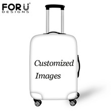 FORUDESIGNS Custom Image or Logo DIY Luggage Protective Cover for 18/20/22/24/26/28/30 Inch Suitcase Case Waterproof Rain Cover