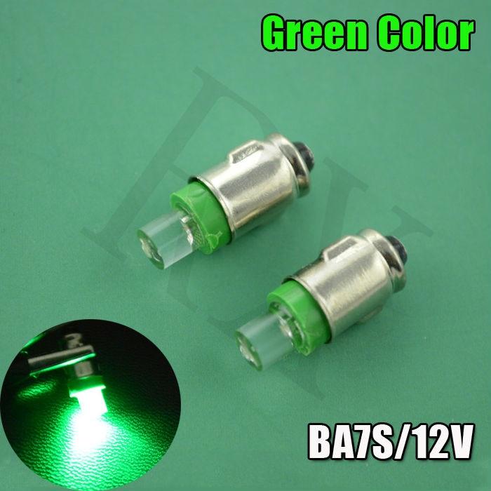 2016 New 4X Green 12V BA7S LED DASHBOARD GAUGE WARNING SWITCH BULB RED WHITE BLUE AMBER GLB281 LLB281 white blue red optional 4pcs positive earth blue ba7s led dashboard gauge warning switch bulb 12v red white green amber glb281