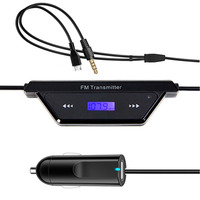 Univeral Car Mp3 Player With Two Car Charger USB 3 5mm Jack FM Transmitter Modulator Audio