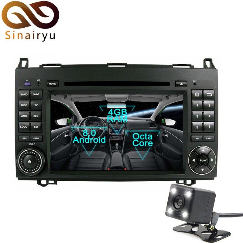 Lecteur DVD de voiture Sinairyu Android 8.0 Octa Core pour Mercedes Benz A-W169 B-W245 Viano Vito