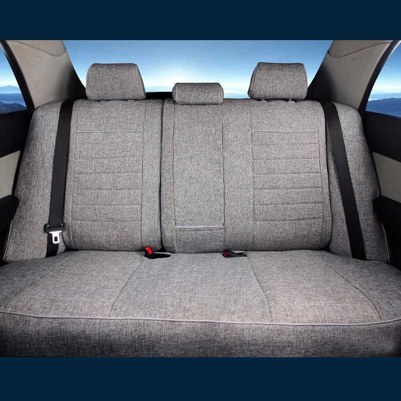 Pano de Linho CARTAILOR Tampas de Assento Do Carro para Buick Enclave 2008 Conjunto Tampa de assento do Estilo Do Carro Assento Assentos Tampa Protector Preto almofada