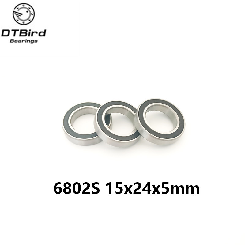 Free shipping 6802-2RS 6802 61802-2RS hybrid ceramic deep groove ball bearing 15x24x5mm 2pcs lot s6806 2rs s6806 2rs s6806 6806 2rs 6806rs 61806 stainless steel 440c hybrid ceramic deep groove ball bearing 30x42x7mm