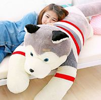 Fancytrader Real Pictures! 71'' / 180 Giant JUMBO Plush Stuffed Emulational Husky Dog Toy, Great Gift, Free Shipping FT50192