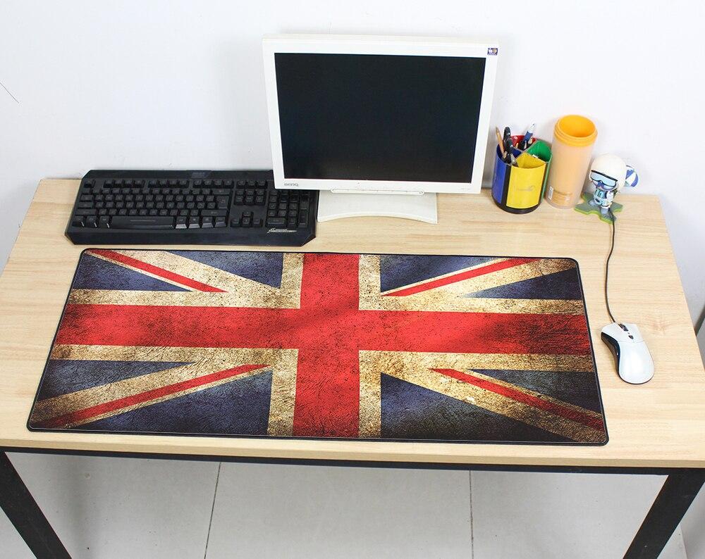 HD pattern Vintage Gaming Mouse Pad Plain Extend UKUSKorea Flag Desk Keyboard Mouse Mat Mousepad Gamer for 900x400x3mm LOL Game